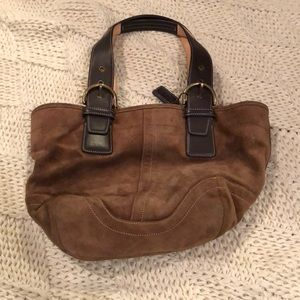 Light brown suede Coach bag